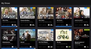 Playstation Vue, My Shows