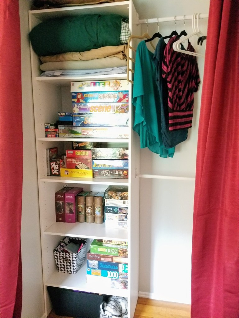 Guest Room Closet, Closet Organization, Curtains for Closet Doors