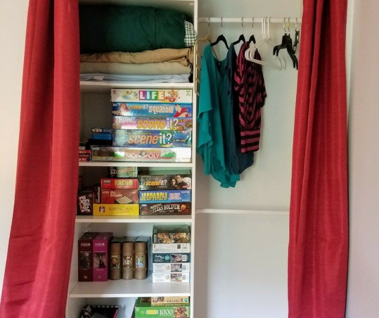Closet Organization, Curtains for Closet Doors