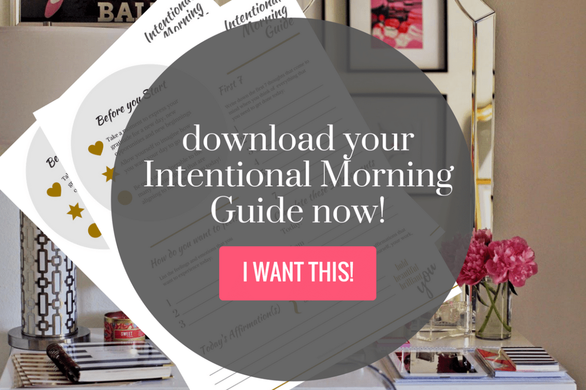My Intentional Morning Free Printable