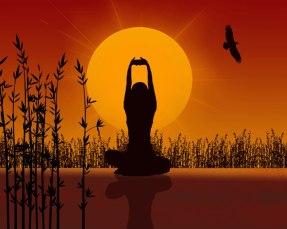 yoga in field