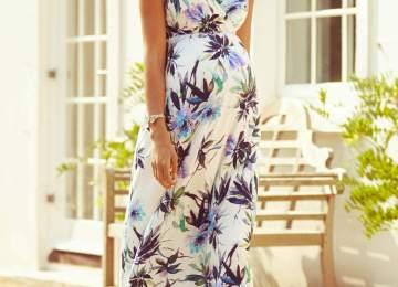681ee936021 Alana Maternity Maxi Dress Inky Tropics Maternity · Splendid ...