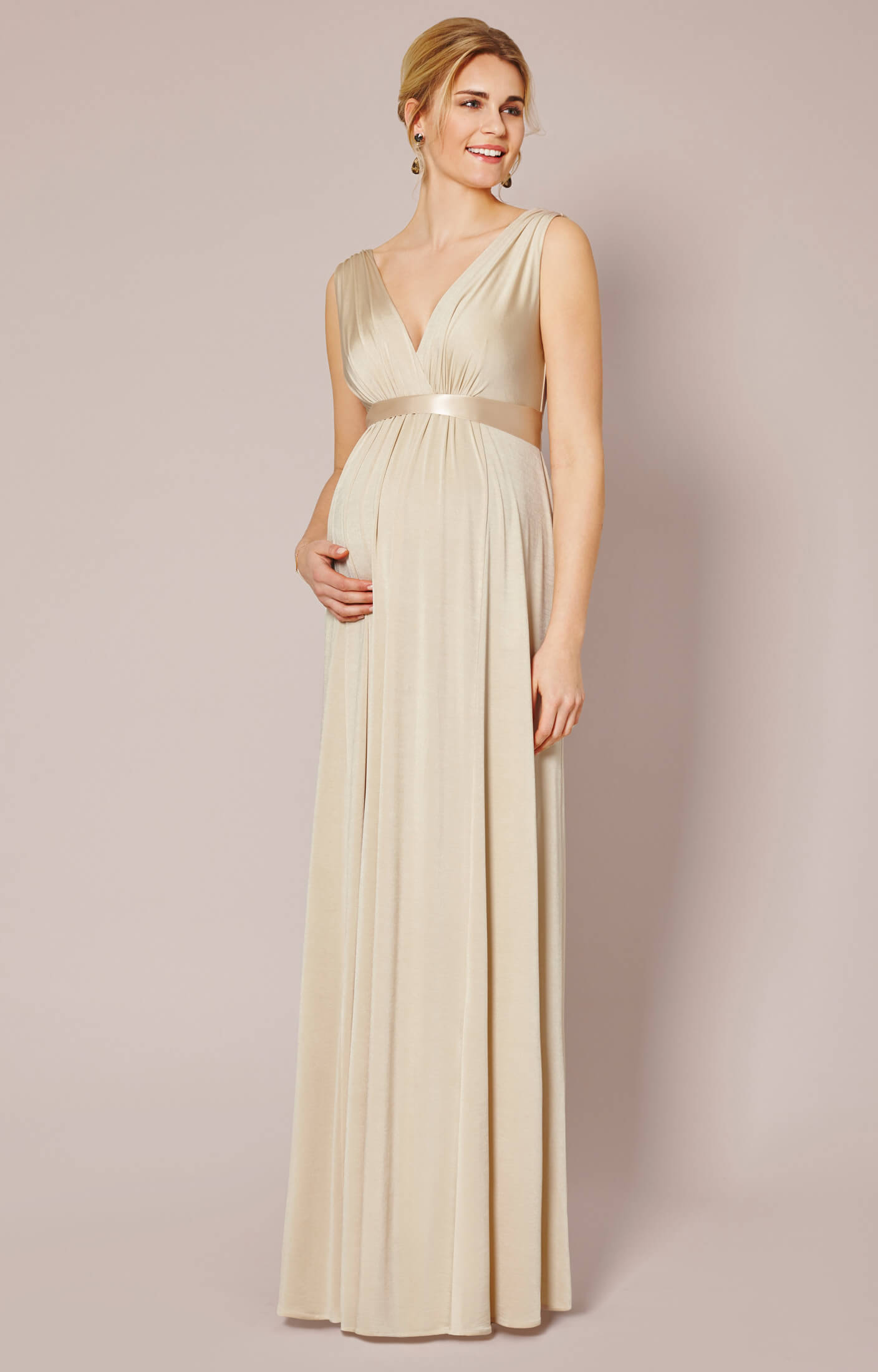 Goddess Maternity Dress : goddess, maternity, dress, Anastasia, Maternity, (Gold, Dust), Wedding, Dresses,, Evening, Party, Clothes, Tiffany