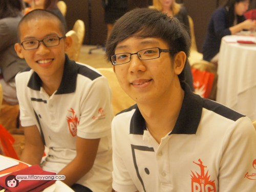 Nico and Danny, apprentices from Singapore