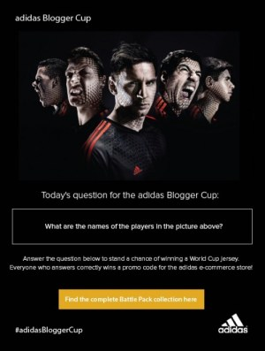 adidas Blogger Cup question 2
