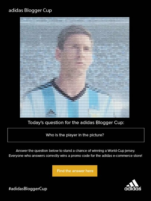 adidas Blogger Cup question 7