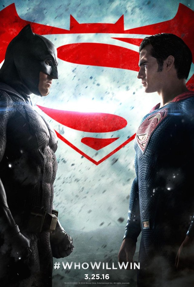 batman v superman poster