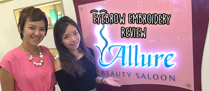 Allure Beauty Review: Allure Signature Eyebrow Embroidery