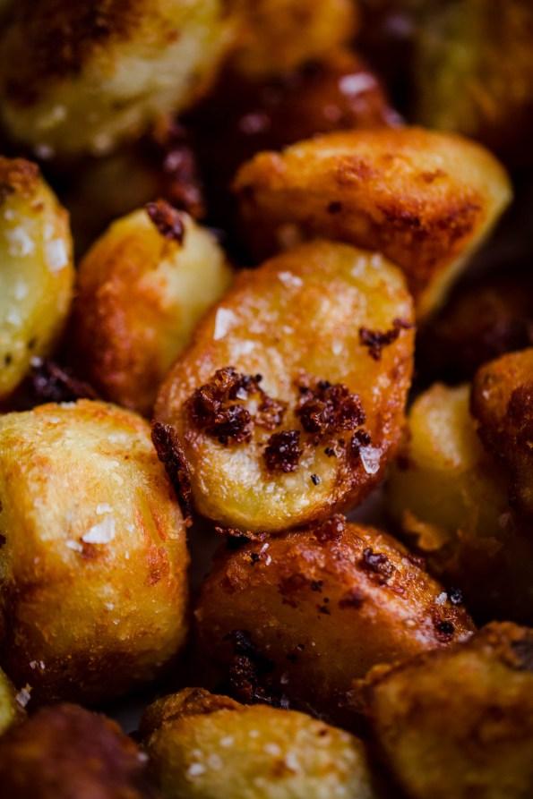 Roast Potatoes close up pic