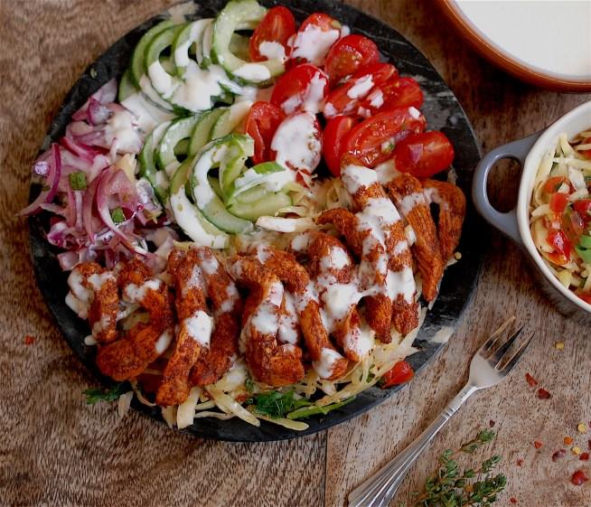 Chicken shawarma Salad - www.tiffinandteaofficial.com