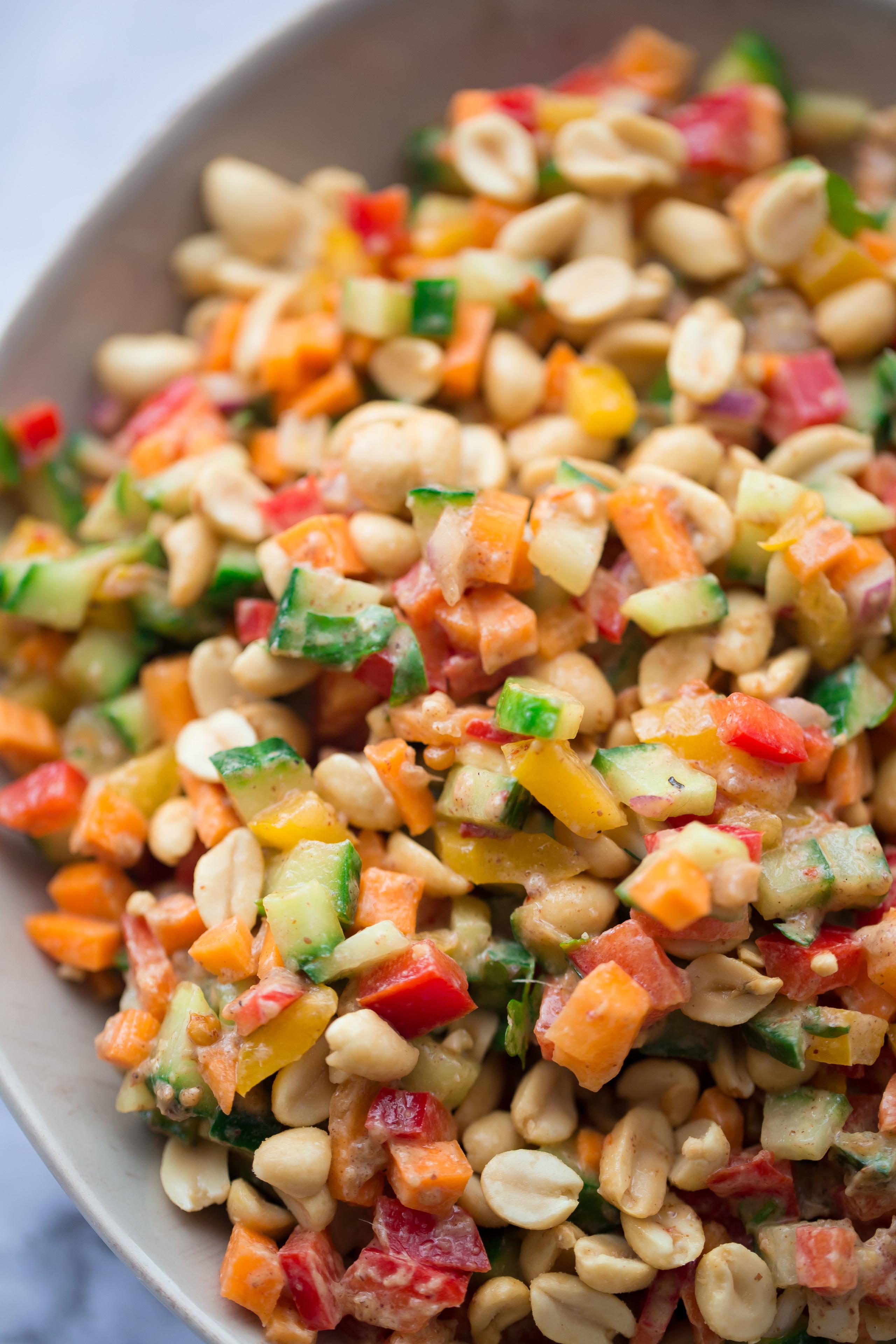 nutty crunchy asian coleslaw
