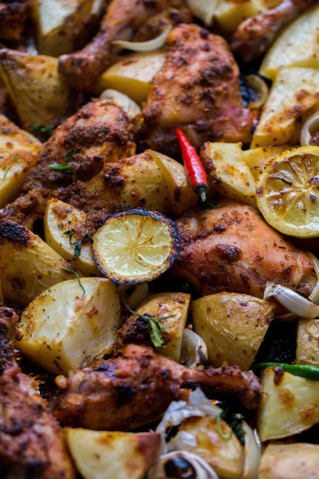 One tray Herb and Citrus Chicken with Potatoes