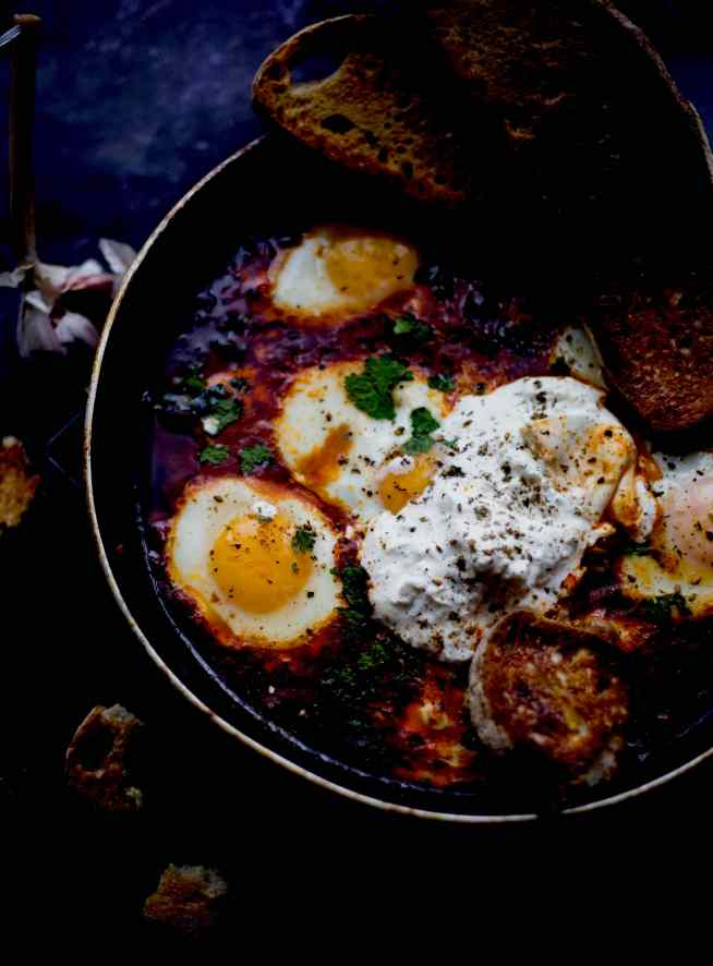 Middle Eastern Shakshuka with Burrata or Feta