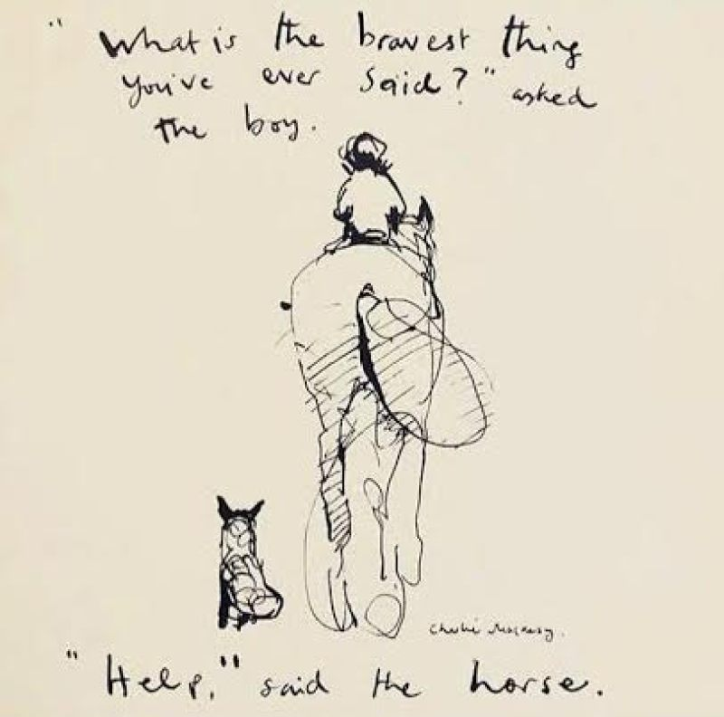 An image by Charlie Mackay on bravery