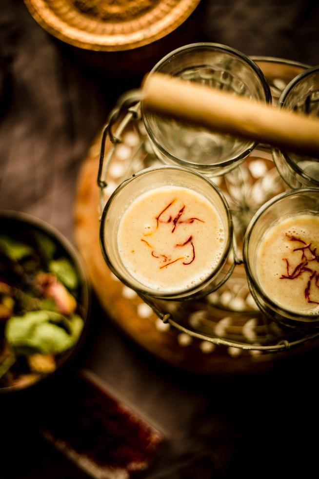saffron and almond milk