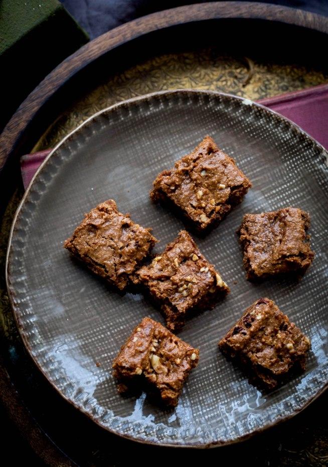 Vegan Chocolate Hazelnut Brownies GF