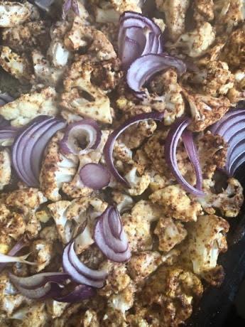 Roast veg in tray