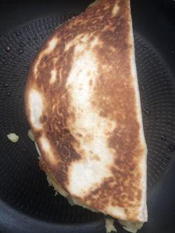 Browned Samosa Wrap in pan