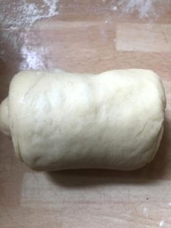 1 piece of dough rolled up