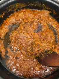 Pureed Tomatoes cooking in pot
