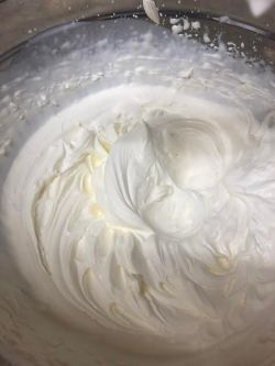 Whipped cream in bowl