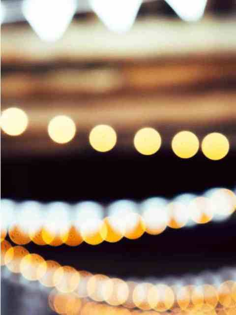 Fairy lights in street