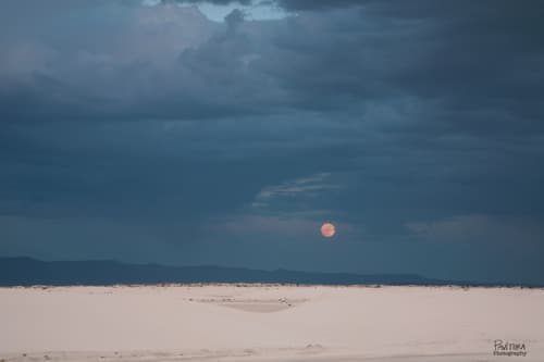 Moonrise Over The Dunes