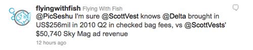 Steven Frischling on Delta's Rejection of ScotteVest Advertisement