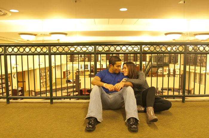Couple In West Hartford Library - VSCO | Straight Out Of Camera Image