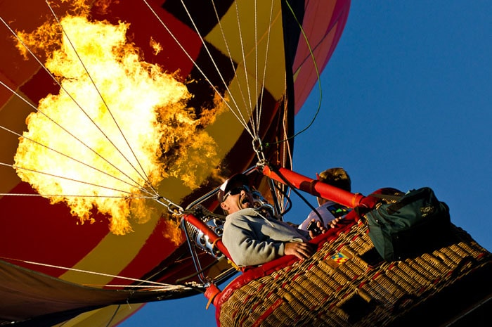 Baloon Burn at Lift Off | Aaron Hockley