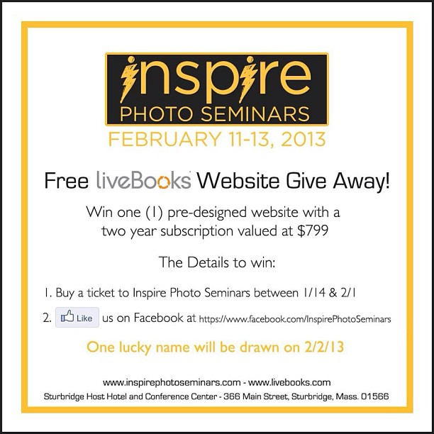 Inspire Photo Seminars LiveBooks Giveaway