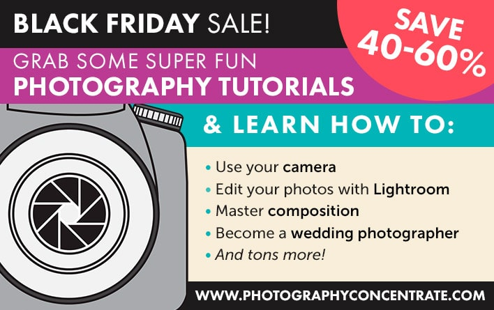 Photography Concentrate: 2015 Black Friday & Cyber Monday Deal