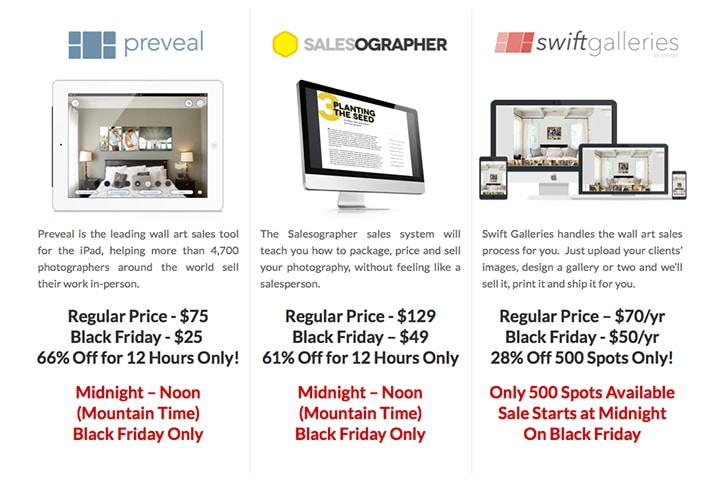 Preveal Black Friday & Cyber Monday Specials