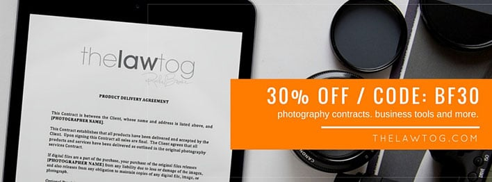 The LawTog, Black Friday Deal On Legal Contracts For Photographers