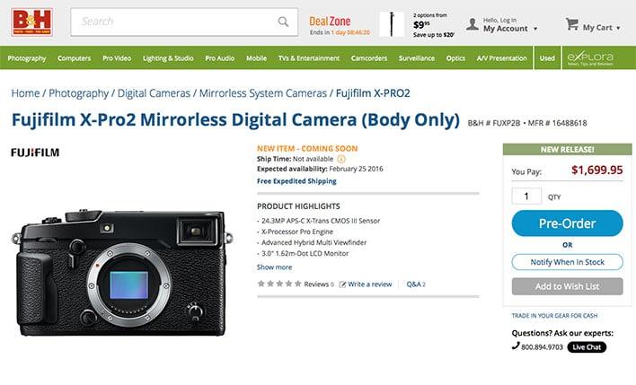 Fujifilm X-Pro2 At B&H Photo Video