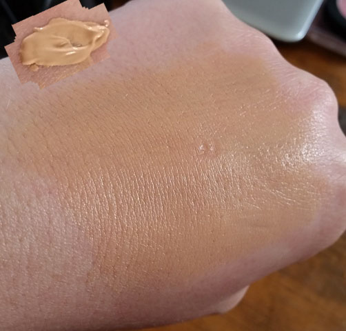 Flawless Finish Foundation swatched.