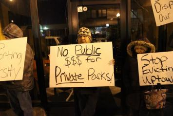 No public dollars for private parks