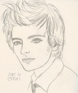 drawing zac efron michelle tigerbeat