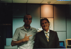 With Gerry Anderson in BBC Radio Foyle's studios in Derry/Londonderry