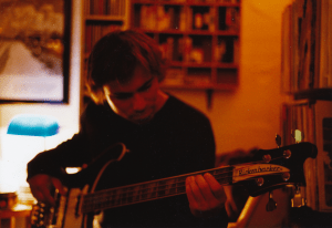 Philipp Rauenbusch laying down bass on Live What You Feel