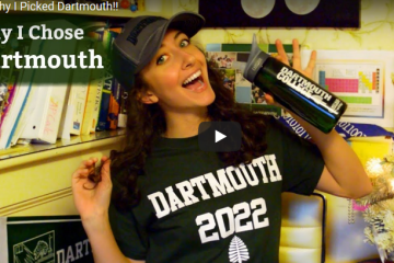 Tiger Dad vlogging about Dartmouth