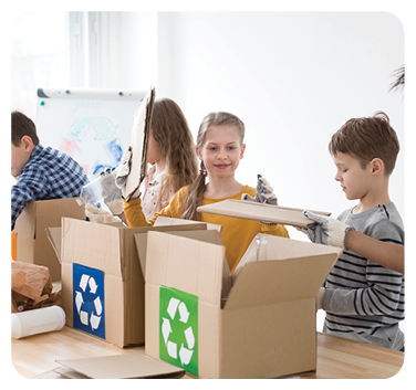 It's Earth Day book activities - recycling sorting activity, teach toddlers and preschoolers how to recycle