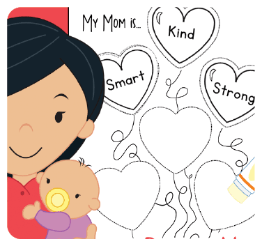 Find out what your preschooler's favorite qualities of mom are with this cute activity for Mother's Day!