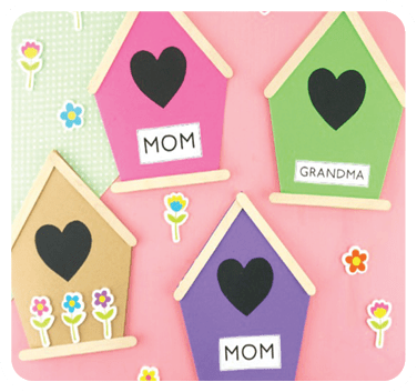 """""""Are You My Mother"""" by P.D. Eastman is a great book celebrating mothers all around the world. This Mother's Day Birdhouse Card is a fun extension activity for your toddler!"""