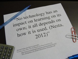 No technology has an impact on learning on its own; it all depends on how it is used.
