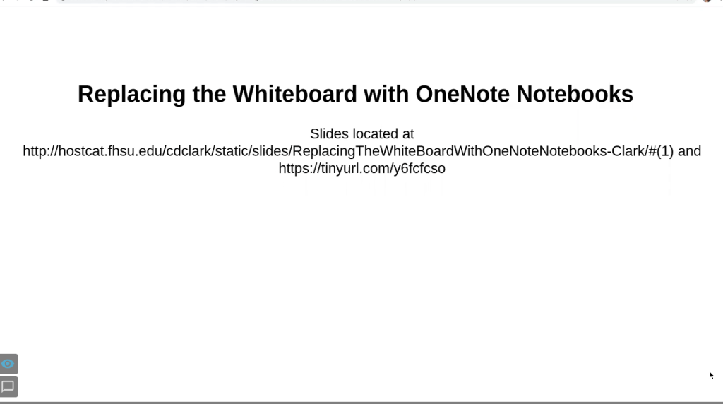 Replacing the Whiteboard with OneNote