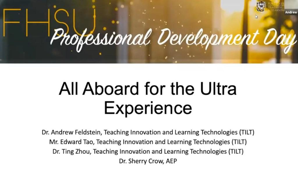 All Aboard for the Blackboard Ultra Experience
