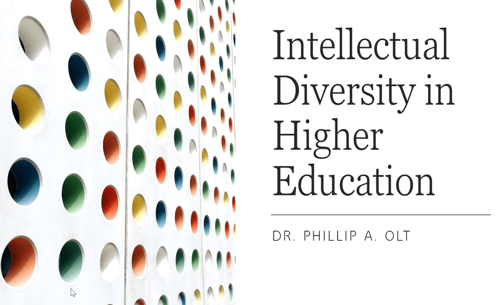 Intellectual Diversity in Higher Education