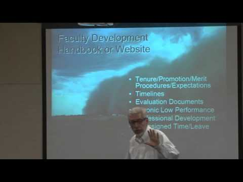 Lecture about Faculty development