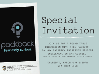 Packback Special Invitation with event details